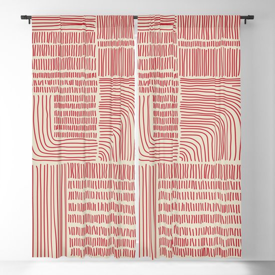 Digital Stitches whole beige + red by loukritia