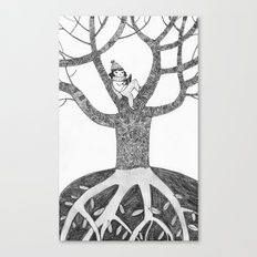 Winter reading Canvas Print