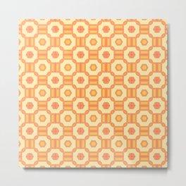 Candy Corn Seamless Pattern Metal Print