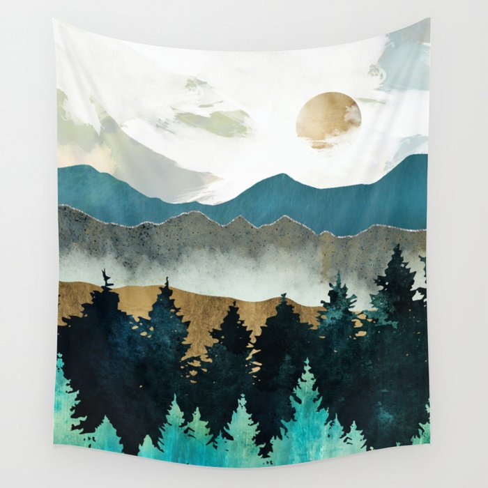 Forest Mist Wall Tapestry