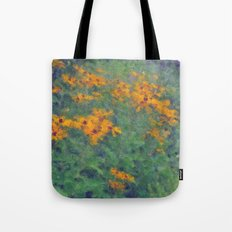 Impressionist Field of Flowers Tote Bag