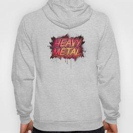 HEAVY METAL! ( Red Splatter Typo Design ) Hoody