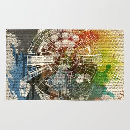 Millennium Falcon - on dictionary page Rug