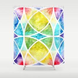 Watercolor circular abstraction Shower Curtain
