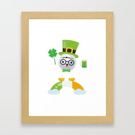 Cute Costume For Golf And Beer Lover. Framed Art Print