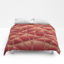 'Quilted' Geometric in Coral Comforters