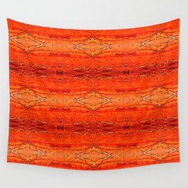 Orange Aztec Pattern 2 Wall Tapestry