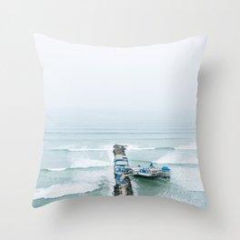 View off the Coast of Miraflores, Lima, Peru Throw Pillow