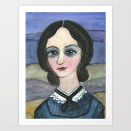 "Charlotte Bronte Writers Portrait, ""Charlotte on the Moors"" Art Print"