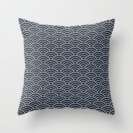 Seigaiha Throw Pillow