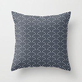 Seigaiha Throw Pillow