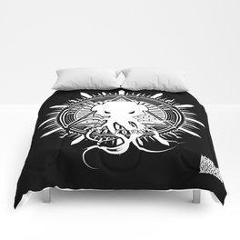 Cthulhu viu essa zoeira! (em preto) Comforters