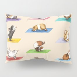 The Yoguineas - Yoga Guinea Pigs - Namast-hay! Pillow Sham
