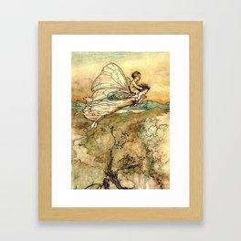 """Bear the Changeling to My Bower"" Art by Arthur Rackham Framed Art Print"