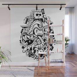 Adventure history of crazy monsters. Wall Mural