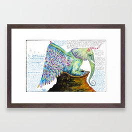 Zipperwoolf Framed Art Print