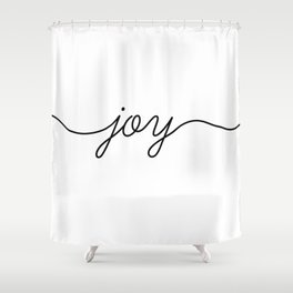 Peace love joy (3 of 3) Shower Curtain