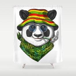 Panda Smoking Weed Shower Curtain