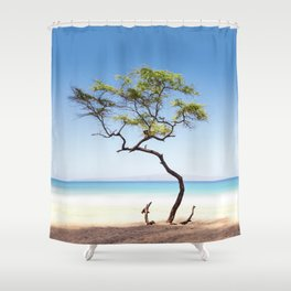 Naked Anchor Shower Curtain