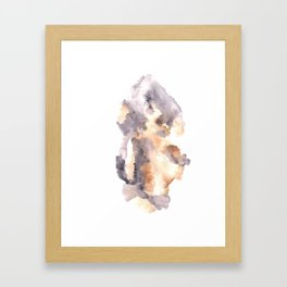Soft Texture Watercolor | [Grief] Latched Framed Art Print