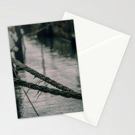 Old Sailing Ropes Italian Seashore Stationery Cards