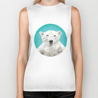 bears Biker Tanks featuring ♥ SAVE THE POLAR BEARS ♥ by ℳixed ℱeelings