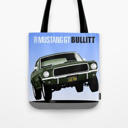 Ford Mustang Fastback GT 1968 from Bullitt Tote Bag