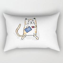 Working Cat Rectangular Pillow