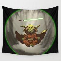 yoda Wall Tapestries featuring Yoda by Marc Vuletich