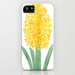yellow hyacinth watercolor iPhone Case