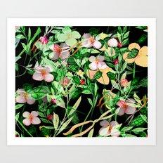 Garden Frenzy Night Art Print