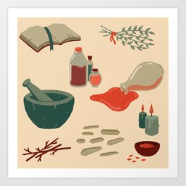 Alchemy Pattern Art Print