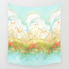 Meadow Fox Repeat Pattern Wall Tapestry