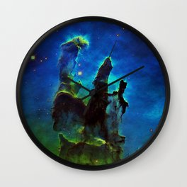 NEbula. : Teal Green Pillars of Creation Wall Clock