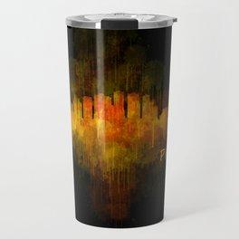 Phoenix Arizona, City Skyline Cityscape Hq v4 Dark Travel Mug