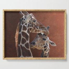 Endearing Giraffes Serving Tray