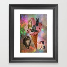 The cat's that got the cream! Framed Art Print