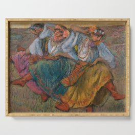 "Edgar Degas ""Russian dancers"" Serving Tray"