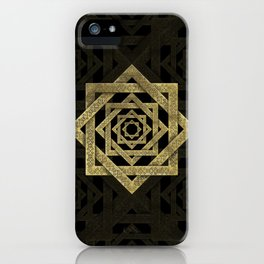 Golden Star of Lakshmi - Ashthalakshmi iPhone Case