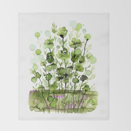 Floral Charm No.1I by Kathy Morton Stanion Throw Blanket