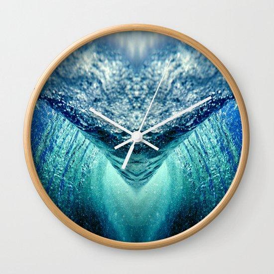 Ocean Vortex Wall Clock By Haroulita Society6