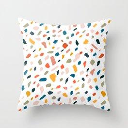 Terrazzo #pattern #illustration #Terrazzo Throw Pillow