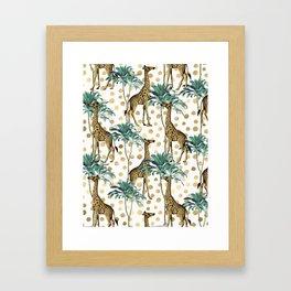 Giraffe Safari Framed Art Print