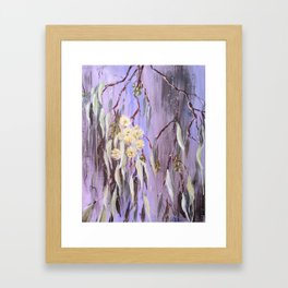 TRANQUILITY - Yellow Gum Blossoms - Original abstract painting by HSIN LIN / HSIN LIN ART Framed Art Print