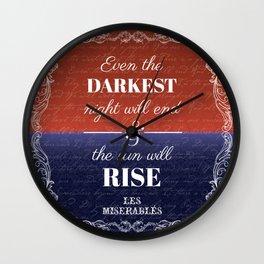 Les Miserables Lyrics / Quote Wall Clock