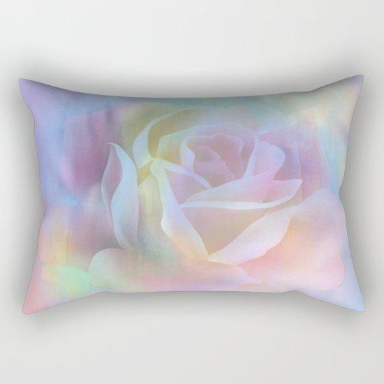 Pastel Watercolor Rose Rectangular Pillow