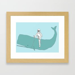 Save the whale Framed Art Print