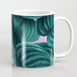 tropical green pattern on pink Coffee Mug