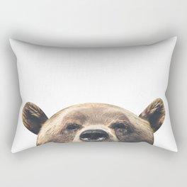Bear - White Rectangular Pillow