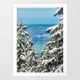 V is for Vancouver Art Print